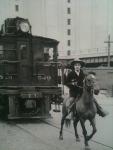 Museum pieces: the High Line exhibit explains how horses used to accompany freight trains through the city.