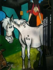 Berlin: Pippi Longstocking street art.